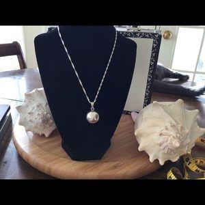 VTG Sterling Silver Rattle/Jingle Ball Necklace